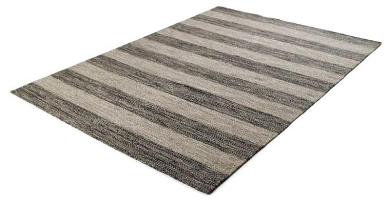 Μάλλινο κιλίμι Biento Kelims Anthracite Stripes