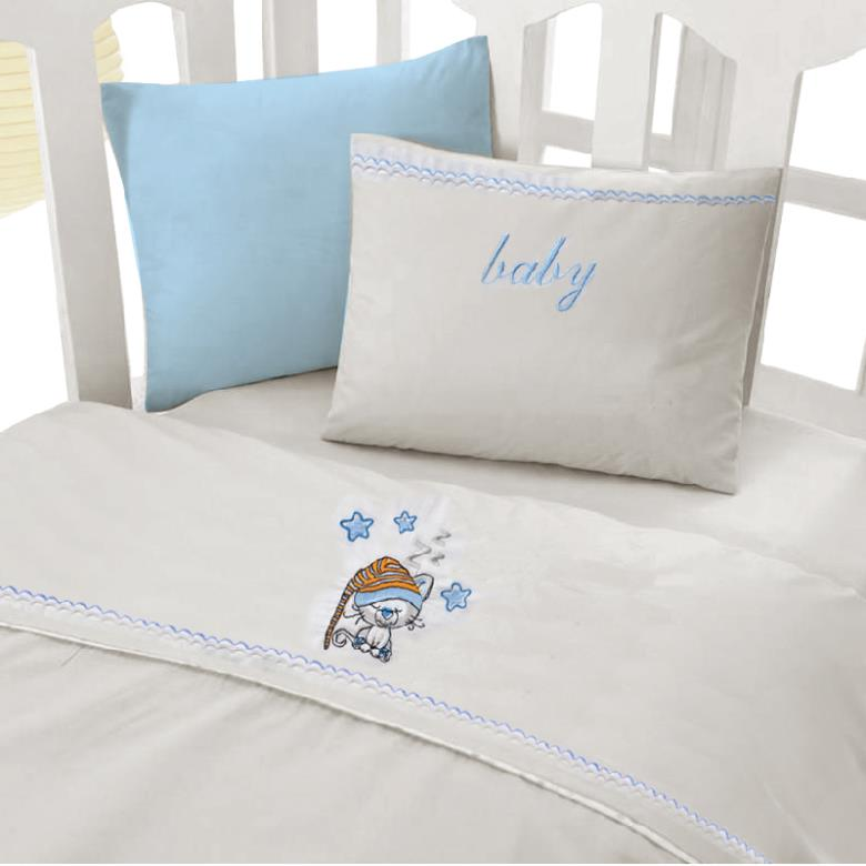 Σετ σεντόνια bebe Cosy Baby Sleepy-Cat Blue