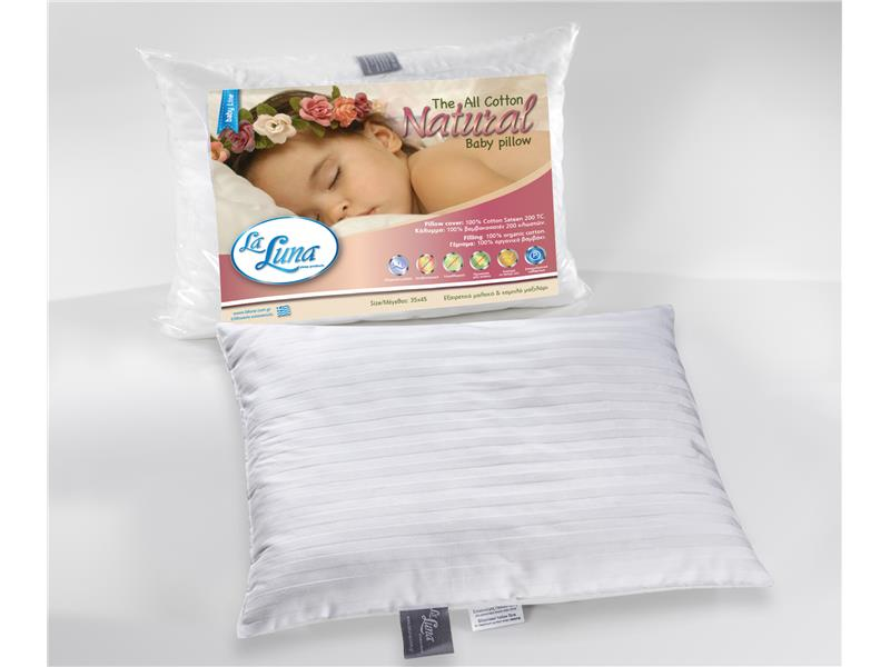 Μαξιλάρι bebe La Luna The All Cotton Natural Pillow