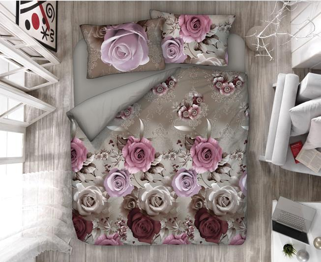 Κουβερλί Ysatis Home Purple Flower 45-11